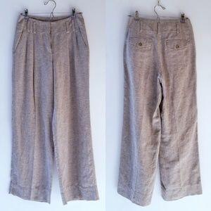 J.jill linen blend high waist wide leg pants